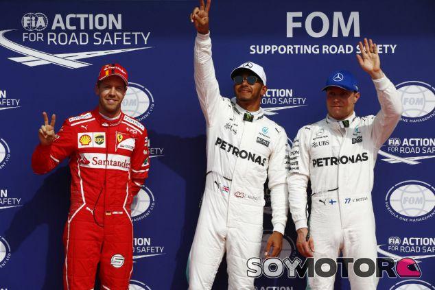 Hamilton, Vettel y Bottas tras la clasificación en Spa - SoyMotor.com