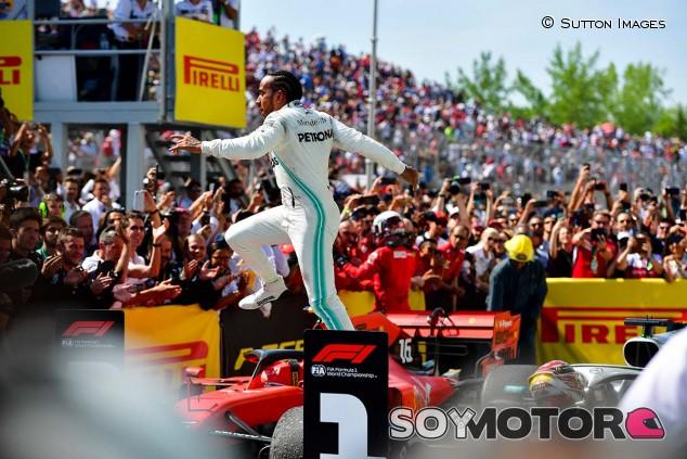 Lewis Hamilton celebra su victoria en el GP de Canadá F1 2019 - SoyMotor
