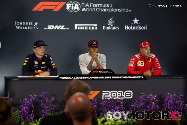 Lewis Hamilton, Max Verstappen y Sebastian Vettel – SoyMotor.com