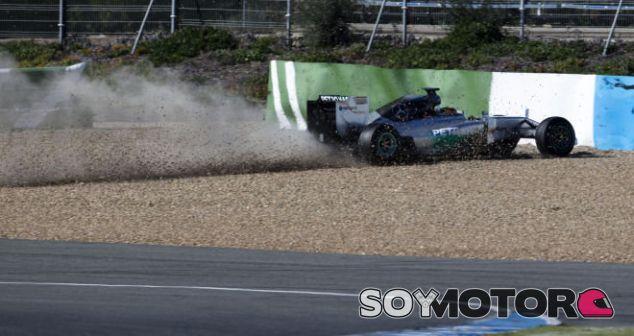 Lewis Hamilton en el momento del accidente - Laf1