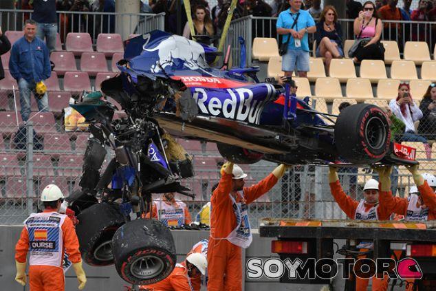 STR13 de Brendon Hartley tras el accidente en Libres 3 - SoyMotor.com