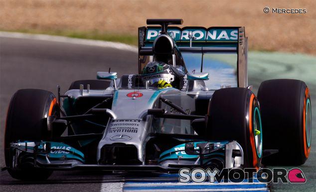 Nico Rosberg en los test de Jerez con el W05 -  LaF1