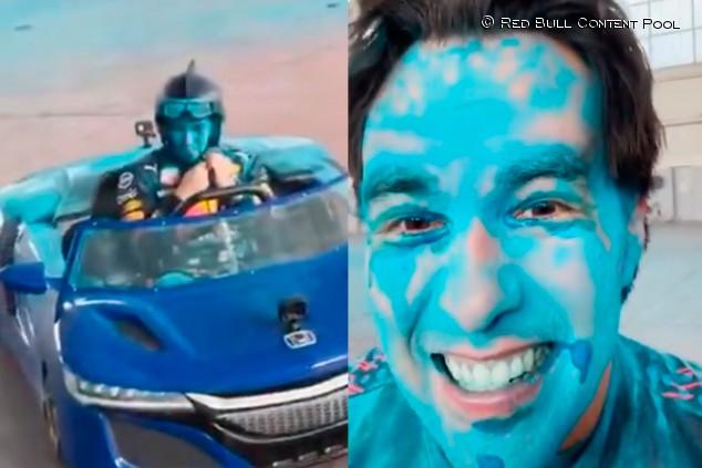 ¡Socorro, soy un pitufo! De Holi Party con un Honda NSX - SoyMotor.com