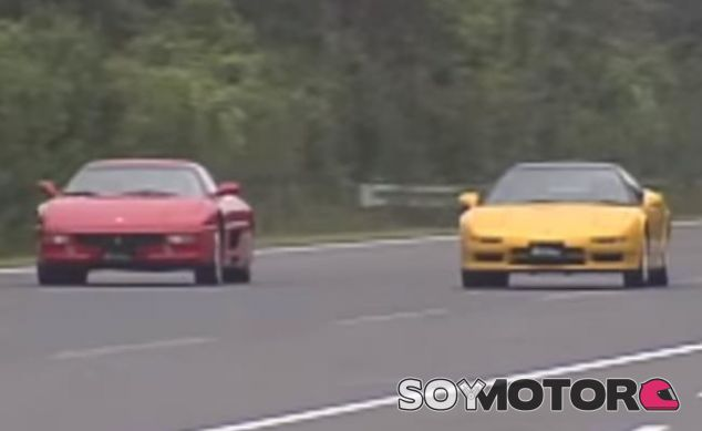 Honda NSX-R vs Ferrari 355 en 1995