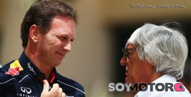 Christian Horner y Bernie Ecclestone en Baréin