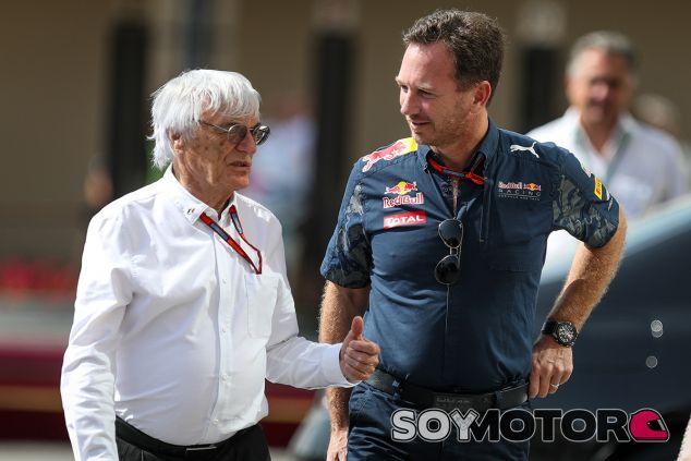 Bernie Ecclestone y Christian Horner - SoyMotor