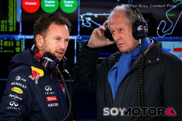 Christian Horner charlando con Helmut Marko - LaF1.es