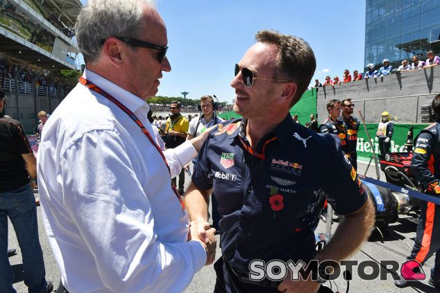 Christian Horner y Jerôme Stoll –CEO de Renault– en Brasil - SoyMotor