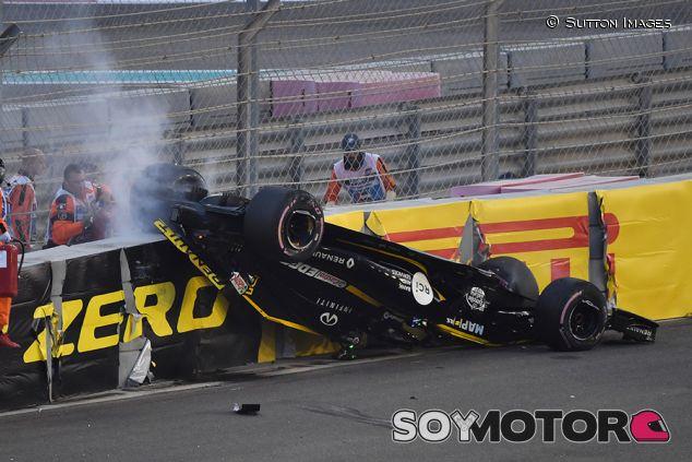 Accidente de Nico Hülkenberg en Yas Marina - SoyMotor.com