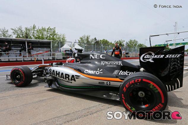 Nico Hülkenberg saliendo de boxes en Canadá - LaF1