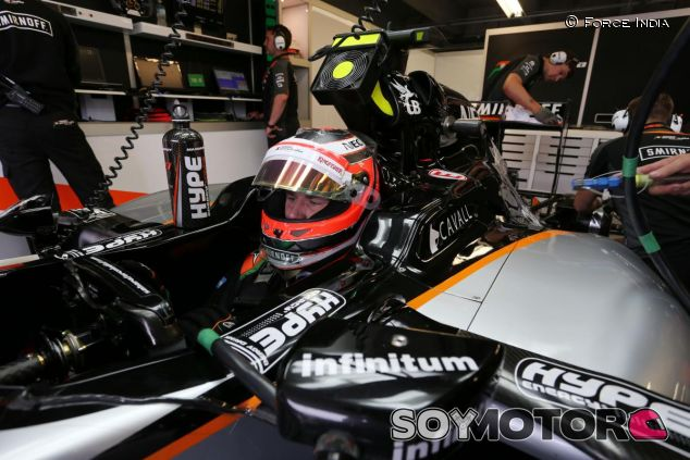 Nico Hülkenberg subido en el Force India - LaF1