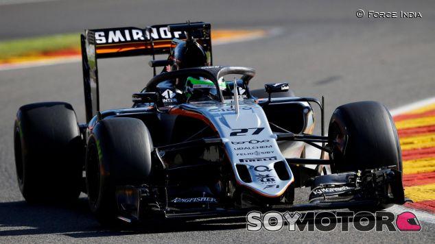 Hülkenberg probó el halo en los Libres del GP de Bélgica - SoyMotor
