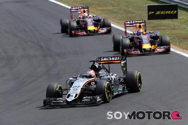 Hülkenberg llegó a rodar por delante de ambos Red Bull en Hungría antes de retirarse - LaF1