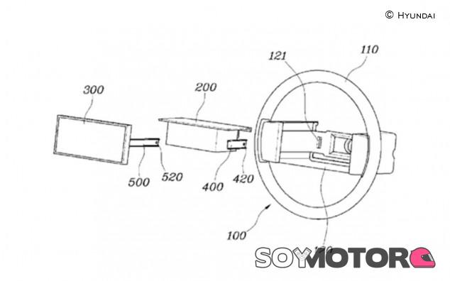 Hyundai patenta un volante con pantalla táctil integrada - SoyMotor.com