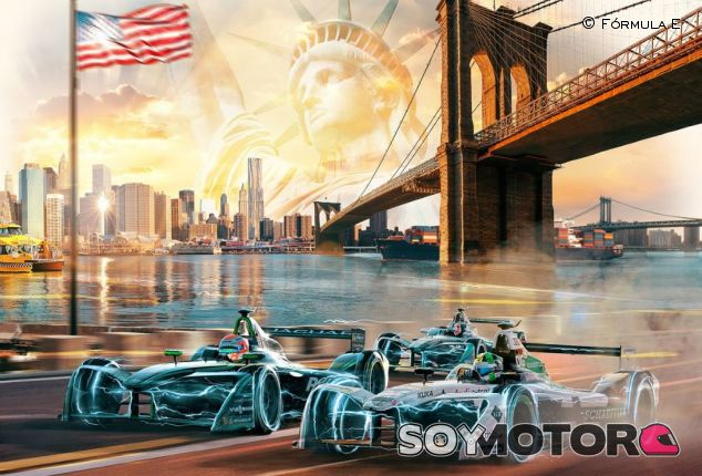Cartel promocional del New York City ePrix – SoYMotor.com