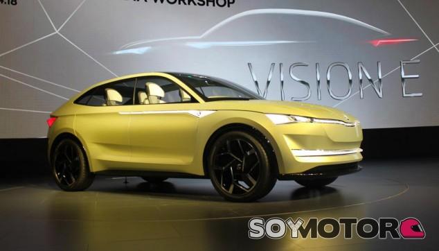 El Skoda Visión E debería adelantar las líneas maestras del primer SUV Coupé 100% eléctrico de Skoda - SoyMotor