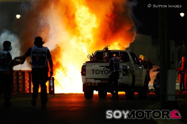 Debate por mostrar las imágenes de Grosjean en bucle: la F1 se defiende - SoyMotor.com