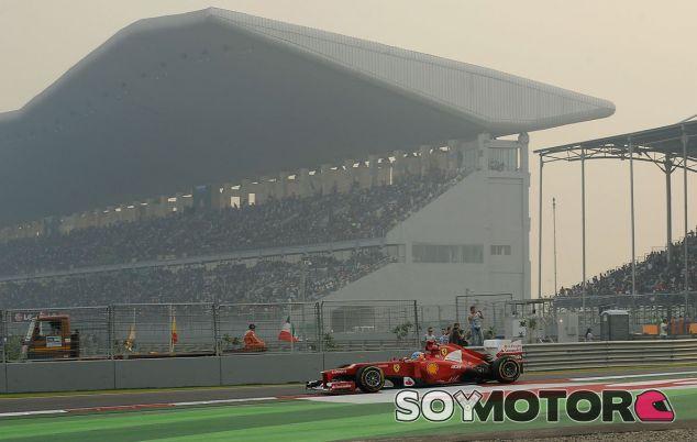Fernando Alonso durante el GP de la India de 2012 - LaF1