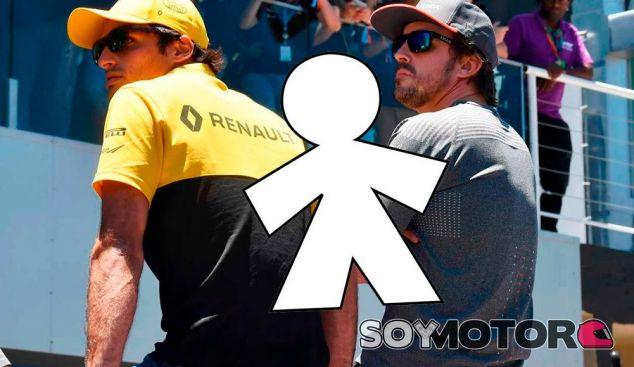 Carlos Sainz y Fernando Alonso en Interlagos - SoyMotor.com