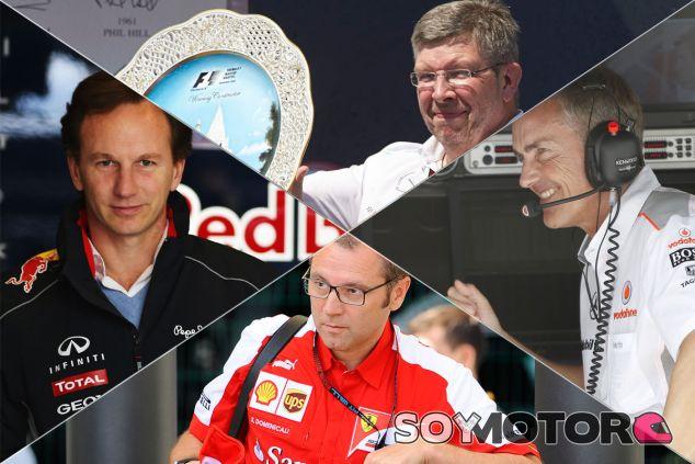 Christian Horner, Ross Brawn, Stefano Domenicali y Martin Whitmarsh - LaF1
