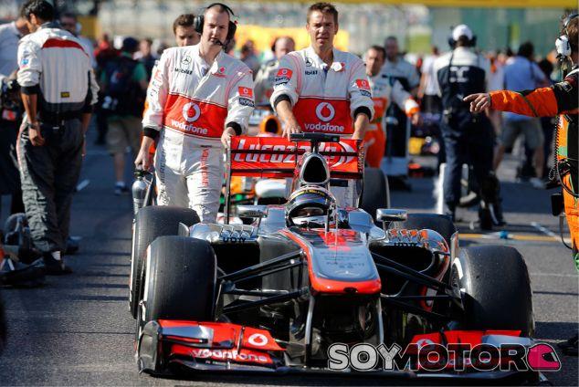Jenson Button en la parrilla de salida de Suzuka - LaF1