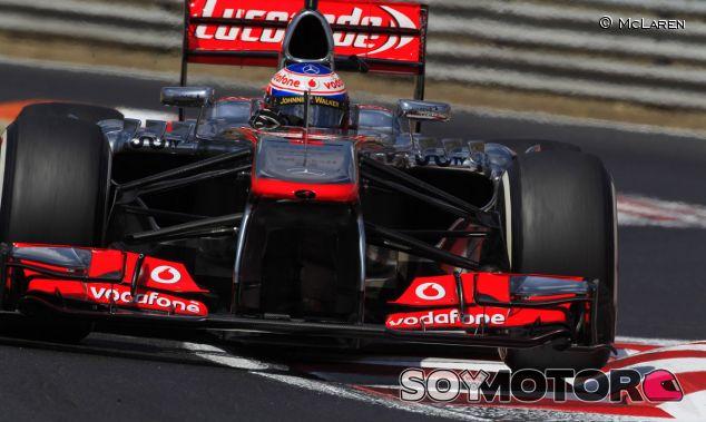Jenson Button en el McLaren MP4-28