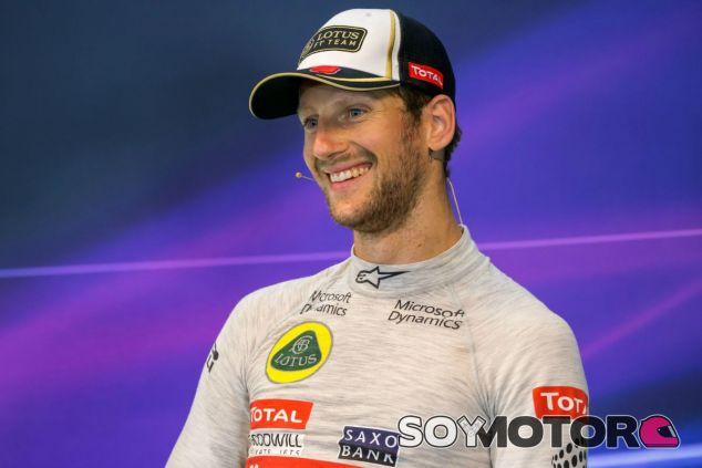 Grosjean, exultante tras el GP de Bélgica - LaF1