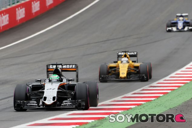 Nico Hülkenberg durante la carrera en Austria - LaF1