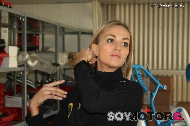 Carmen Jordá en un evento en el Kartodrom Catalunya - LaF1