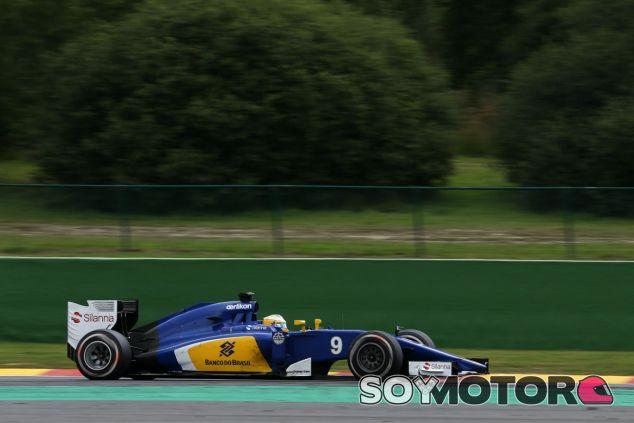 Ericsson durante el GP de Bélgica - LaF1