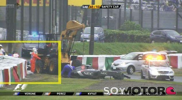 Para Pérez, el accidente de Bianchi es inaceptable y quiere respuestas