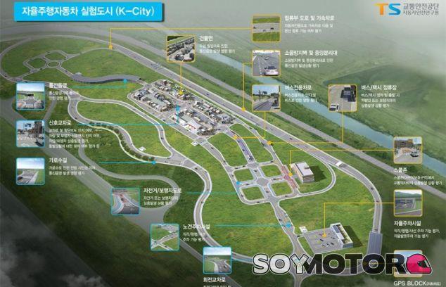 Corea del Sur prepara el mayor campo de pruebas para vehículos autónomos: K-City - SoyMotor.com