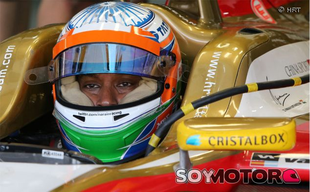 Narain Karthikeyan en sus días como piloto de HRT - LaF1