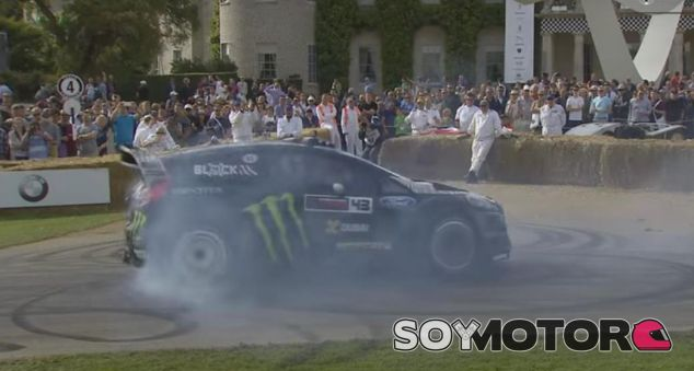Exhibición de Ken Block con su Fiesta en Goodwood