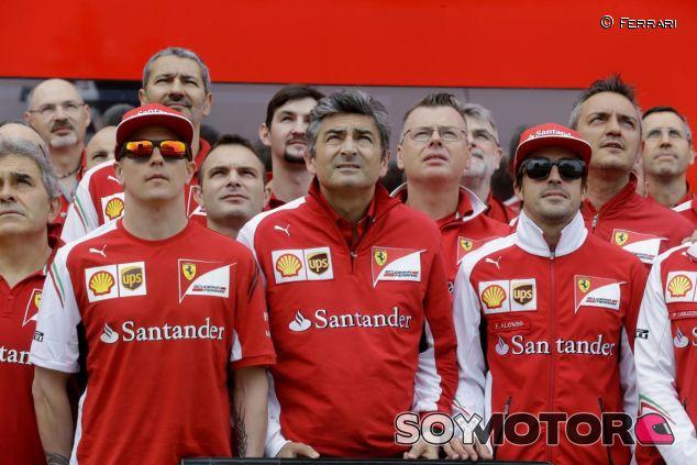Fernando Alonso, Kimi Raikkonen y Marco Mattiacci - LaF1.es