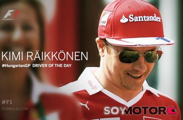Kimi Raikkonen, Piloto del Día en Hungría - LaF1