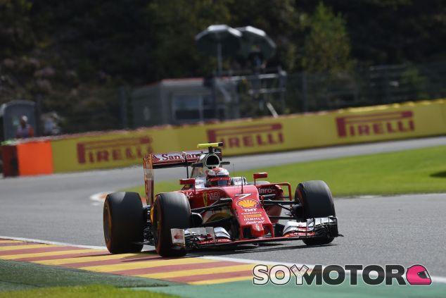 Kimi Raikkonen en Spa - LaF1