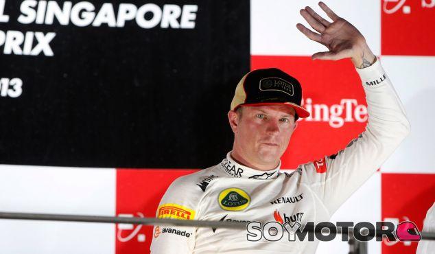 Kimi Räikkönen en el podio del GP de Singapur - LaF1
