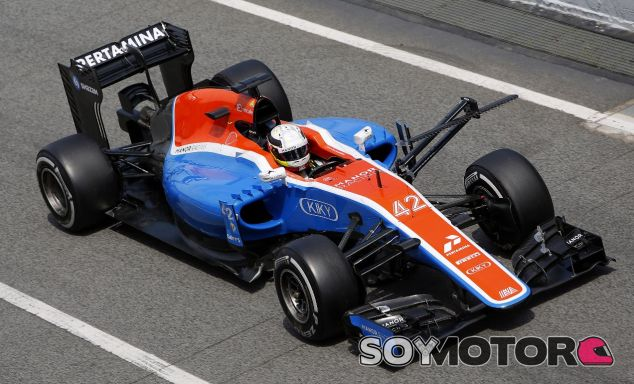 Jordan King en un test con Manor - SoyMotor