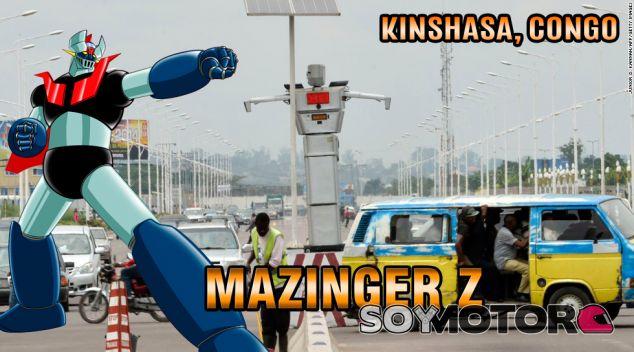 Robot dirige el tráficoen Kinshasa, Congo - SoyMotor