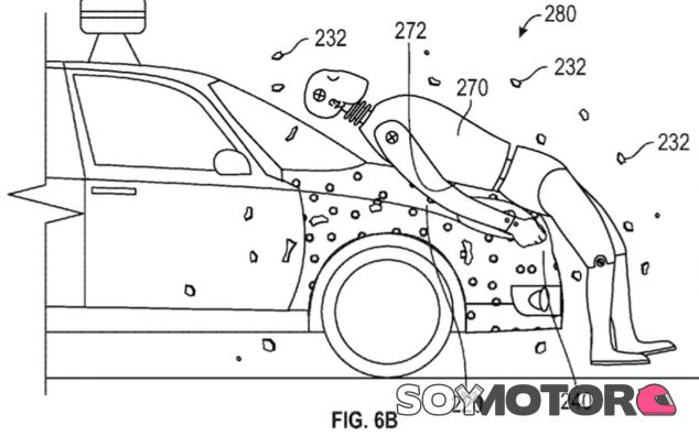 Boceto extraido de la patente presentada por Google en la Oficina de Patentes de los Estados Unidos - SoyMotor