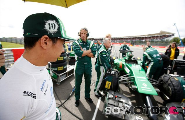 Kamui Kobayashi en la parrilla de Silverstone - LaF1