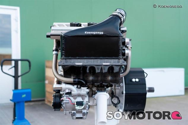 Motor del Koenigsegg Gemera - SoyMotor.com