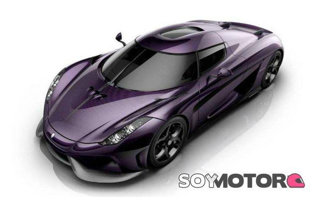 No sería extraño que Koenigsegg decidiese producir alguna unidad del Regera en color morado - SoyMotor