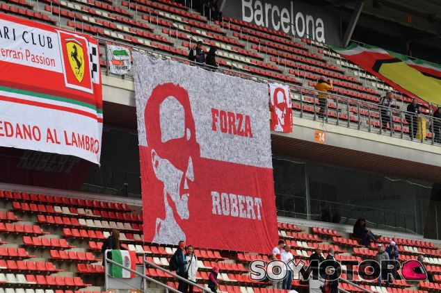 Pancartas de aficionados de Robert Kubica –SoyMotor.com