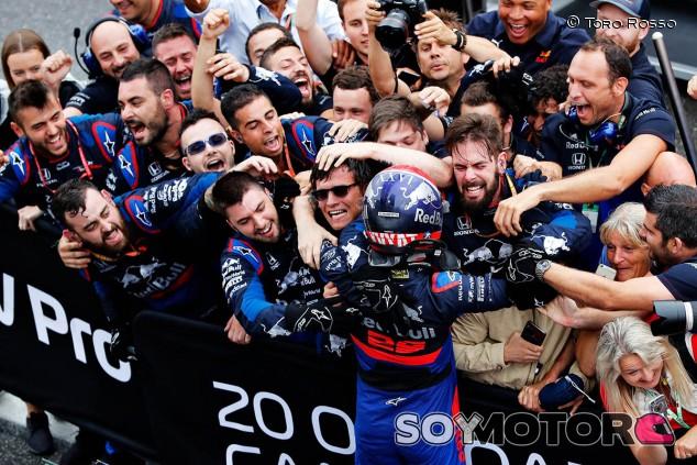Honda considera el podio de Kvyat una recompensa para Toro Rosso - SoyMotor.com