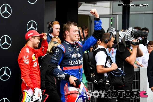 Daniil Kvyat celebra el podio en el GP de Alemania F1 2019 - SoyMotor