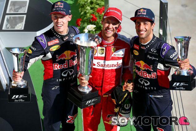 ¿Kvyat o Vettel? ¿Quién es más rápido? Ricciardo no sabría decirlo - LaF1