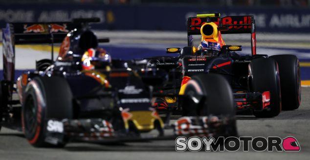 La lucha con Verstappen en Singapur, clave en la permanencia de Kvyat - SoyMotor.com