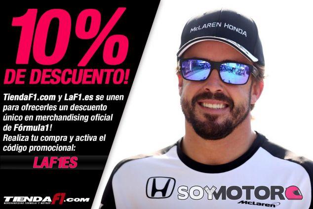 LaF1.es y TiendaF1.com ofrecen un descuento en merchandising de F1